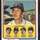 1974 Topps Baseball Card # 379 Texas Rangers Billy Martin & Coaches ex/em