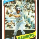 1980 Topps baseball card # 652 Seattle Mariners Mario Mendoza nr mt