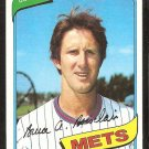 New York Mets Bruce Boisclaire 1980 Topps baseball card # 654 Nr Mt