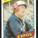 Montreal Expos Rusty Staub 1980 Topps Baseball Card # 660 Nr Mt
