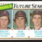 California Angels Future Stars Ralph Botting Bob Clark Dickie Thon 1980 Topps # 663 nr mt