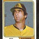 San Diego Padres Rich Morales 1974 Topps Baseball Card # 387 Vg+