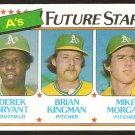 Oakland Athletics Future Stars Derek Bryant Brian Kingman Mike Morgan 1980 Topps # 671