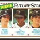 Detroit Tigers Future Stars Mike Chris Al Greene Bruce Robbins 1980 Topps # 666 nm