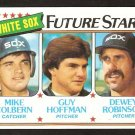 Chicago White Sox Future Stars Mike Colbern Guy Hoffman Dewey Robinson 1980 Topps # 664