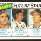 San Francisco Giants Future Stars Greg Johnston Dennis Littlejohn Phil Nastu 1980 Topps # 686 nm