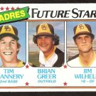 San Diego Padres Future Stars Tim Flannery Brian Greer Jim Wilhelm 1980 Topps # 685 em