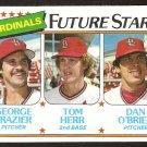St Louis Cardinals Future Stars George Frazier Tom Herr Dan O'Brien 1980 Topps # 684 ex/em