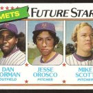 New York Mets Future Stars Mike Scott Jesse Orosco Dan Norman 1980 Topps 681
