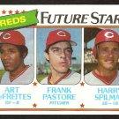 Cincinnati Reds Future Stars Art DeFreites Frank Pastore Harry Spillman 1980 Topps Baseball Card 677