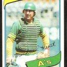 Oakland Athletics Mike Heath 1980 Topps Baseball Card # 687 nr mt
