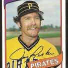 Pittsburgh Pirates Jim Rooker 1980 Topps Baseball Card # 694 ex/nm