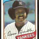 New York Yankees Oscar Gamble 1980 Topps Baseball Card # 698 ex