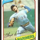 Seattle Mariners Floyd Bannister 1980 Topps Baseball Card # 699 nr mt