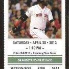 Kansas City Royals Boston Red Sox 2013 Ticket Daniel Nava Lorenzo Cain HR Clay Bucholtz