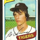Detroit Tigers Pat Underwood 1980 Topps Baseball Card # 709 nr my