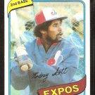 Montreal Expos Rodney Scott 1980 Topps Baseball Card # 712 nr mt