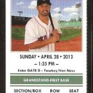 Houston Astros Boston Red Sox 2013 Ticket David Ortiz Daniel Nava John Lackey Victorino