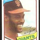 San Francisco Giants Terry Whitfield 1980 topps baseball card # 713 ex/nm