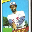 Montreal Expos Jerry White 1980 topps baseball card # 724 ex