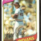 Cleveland Indians Rick Wise 1980 Topps Baseball Card # 725 ex mt