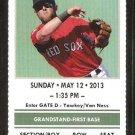 Toronto Blue Jays Boston Red Sox 2013 Ticket Jose Bautista 2 Mike Napoli HR