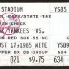 BOSTON RED SOX @ NEW YORK YANKEES 1985 TICKET STUB RON GUIDRY DON MATTINGLY 2 HITS