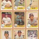 1981 Fleer Seattle Mariners Team Lot 22 Maury Wills Bruce Bochte Tom Paciorek Julio Cruz