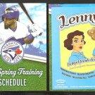 2014 Toronto Blue Jays Spring Training Pocket Schedule Jose Reyes Lennys Restaurant Clearwater