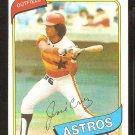 Houston Astros Jose Cruz 1980 topps baseball card # 722 nr mt