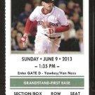 Los Angeles Angels Boston Red Sox 2013 Ticket Saltalamacchia 2 David Ortiz Mike Carp HR