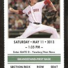 Toronto Blue Jays Boston Red Sox 2013 Ticket Adam Lind HR Jose Bautista Dustin Pedroia