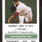 Tampa Bay Rays Boston red Sox 2013 Ticket Saltalamacchia Evan Longoria HR