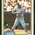 Atlanta Braves Jeff Burroughs 1981 Topps Baseball Card # 20 nr mt