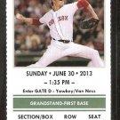 Toronto Blue Jays Boston Red Sox 2013 Ticket Jose Bautistia Jose Reyes HR