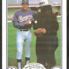 Texas Rangers Charlie Hough 1987 Smokey The Bear Fire Prevention Baseball Card # 12