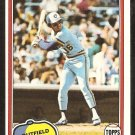 Milwaukee Brewers Sixto Lezcano 1981 Topps Baseball Card # 25 nr mt