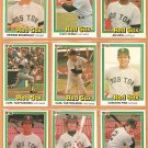 1981 Donruss Boston Red Sox Team Lot Yastrzemski Fisk Jim Rice Eckersley Tony Perez