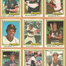 1981 Donruss California Angels Team Lot 23 diff Rod Carew Fregosi Baylor Grich Lansford