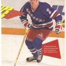 New York Rangers Brian Leetch 1991 Pinup Photo