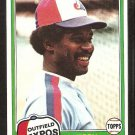 Montreal Expos Jerry White 1981 Topps Baseball Card # 42 nr mt