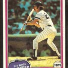 New York Yankees Auerelio Rodriguez 1981 Topps Baseball Card # 34 nr mt