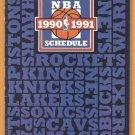 1990 NBA Schedule Brochure Michael Jordan Chicago Bulls Magic Johnson