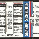 1994 NFL Week by Week Sliding Pocket Schedule Dawson's True Value Hardware Beverly MA