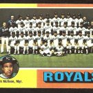 Kansas City Royals Team Card 1975 Topps Baseball Card # 72 vg unmarked