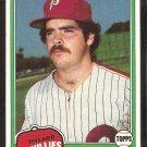 Philadelphia Phillies Kevin Saucier 1981 Topps # 53 ex/em