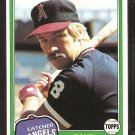 California Angels Dave Skaggs 1981 Topps # 48 nr mt