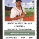 New York Yankees Boston Red Sox 2013 Ticket Alex Rodriquez Middlebrooks HR Mariano Rivera Save