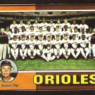 Baltimore Orioles Team Card 1975 Topps Baseball Card # 117 good