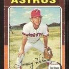 Houston Astros Tommy Helms 1975 Topps Baseball Card # 119 fair/good